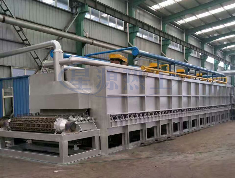 Steel ball cast chain tempering furnace