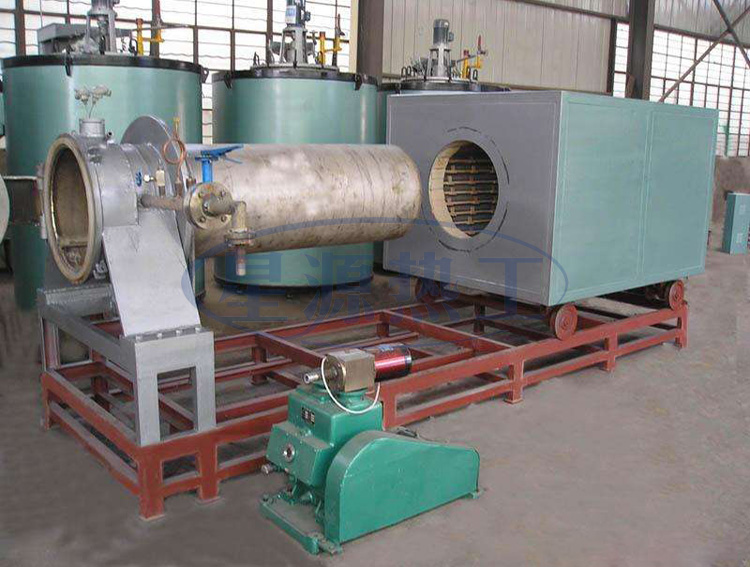A trolley type vacuum bright annealing furnace