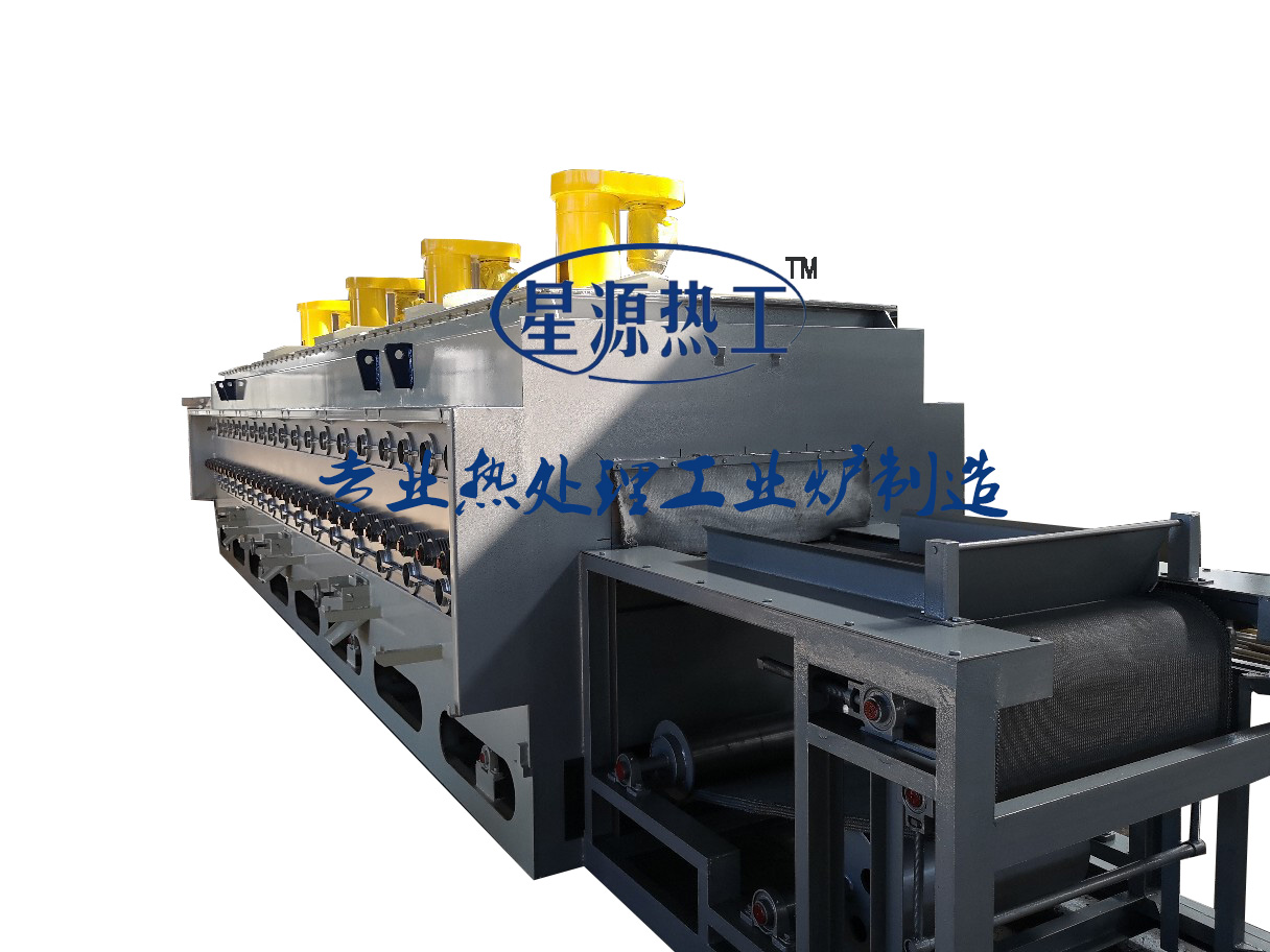 There is a muffle roller net belt furnace