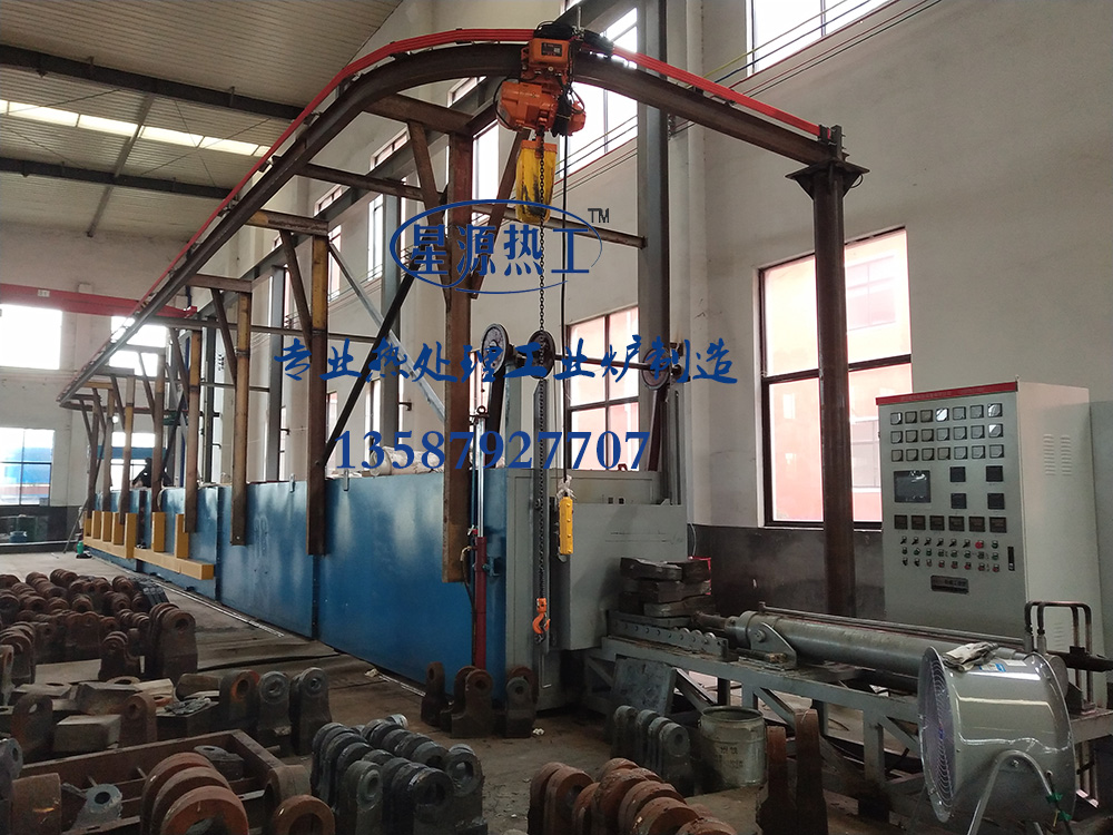 The pusher-type continuous quenching tempering heat treatment production line