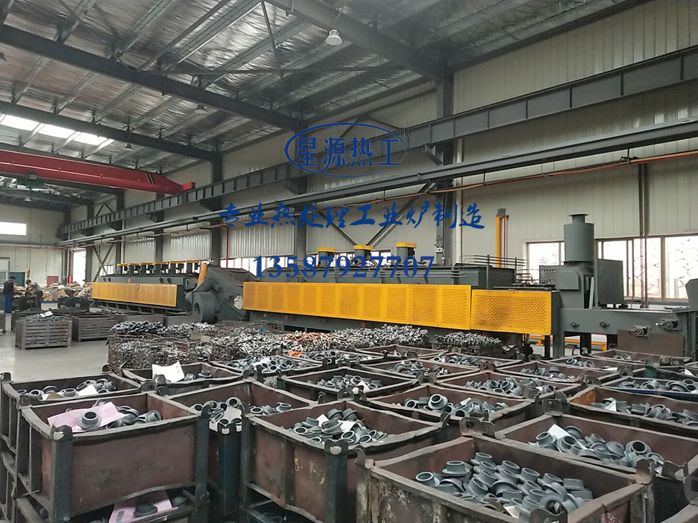 Roller type mesh belt furnace heat treatment production line series